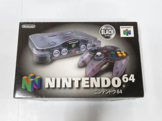 NINTENDO64本体/クリアブラック