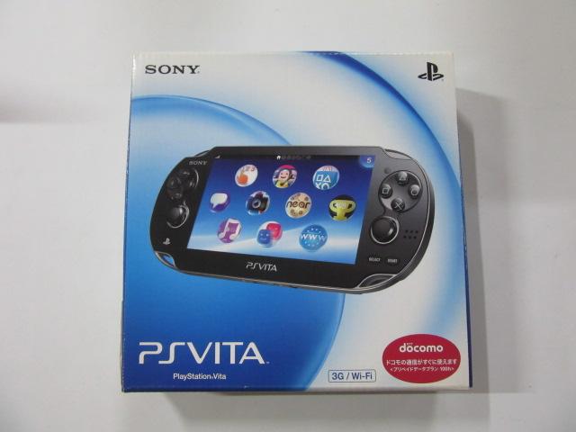 PlayStation Vita本体 3G/Wi-Fiモデル クリスタル・ブラック (PCH-1100)